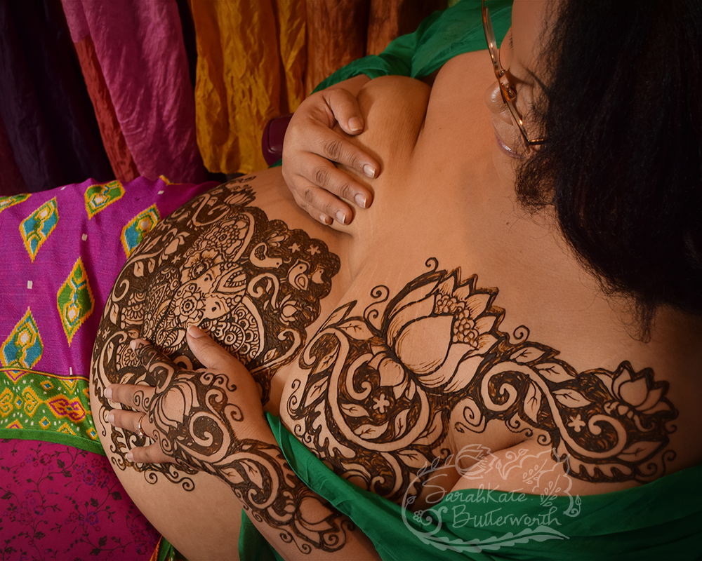 Henna lotus pregnancy designs sarahkate butterworth izmirmasajfo Image collections