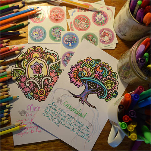 SarahKate's Affirmation Coloring Cards